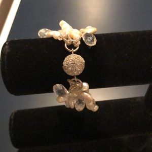 Jewelry - Custom Made freshwater pearl and crystal bracelet.